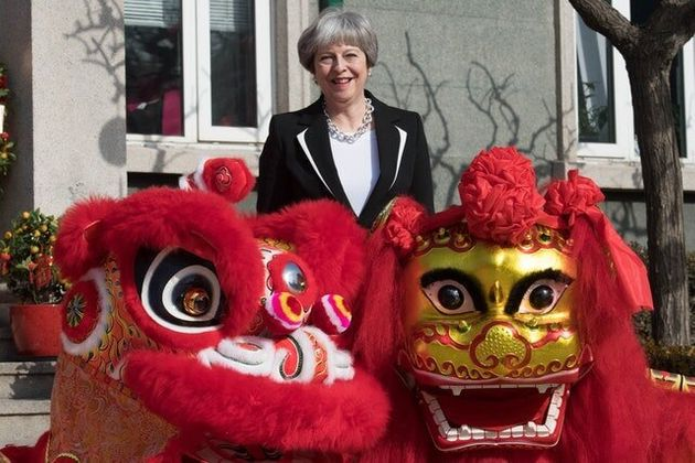 In Pictures: Theresa May Tours Beijing As China Trade Mission
