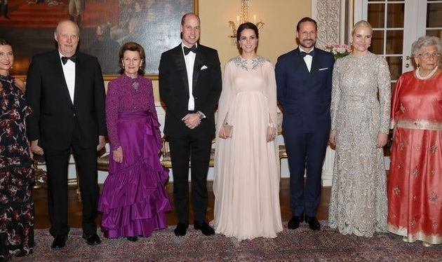 King Of Norway Pays Tribute To William And Kate At Royal Palace
