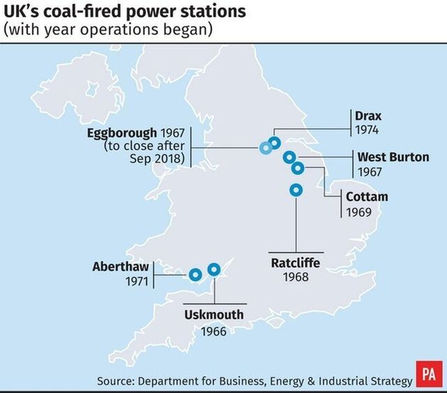 Map Of Uk Power Stations.Eggborough Power Plant To Close Huffpost Uk