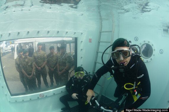 Underwater Cycling World Record Broken By Two Ex-Royal Marines At Southampton Boat