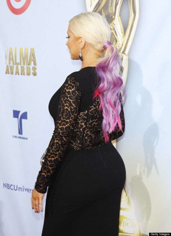 Christina Aguilera Shows Off Bootylicious Behind At 2012