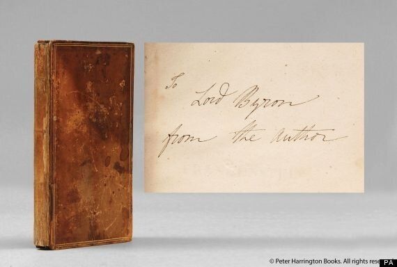 Discovered: Lord Byron's Copy Of Frankenstein, With Love From Mary