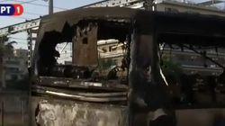Έκαψαν τουριστικό λεωφορείο κοντά στην πλατεία