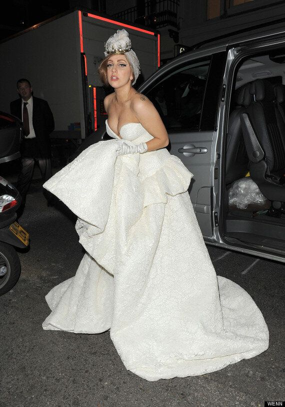 c892bfd8a63 Lady Gaga Turns (Tired And Emotional) Runaway Bride After Bringing Her  'Born This