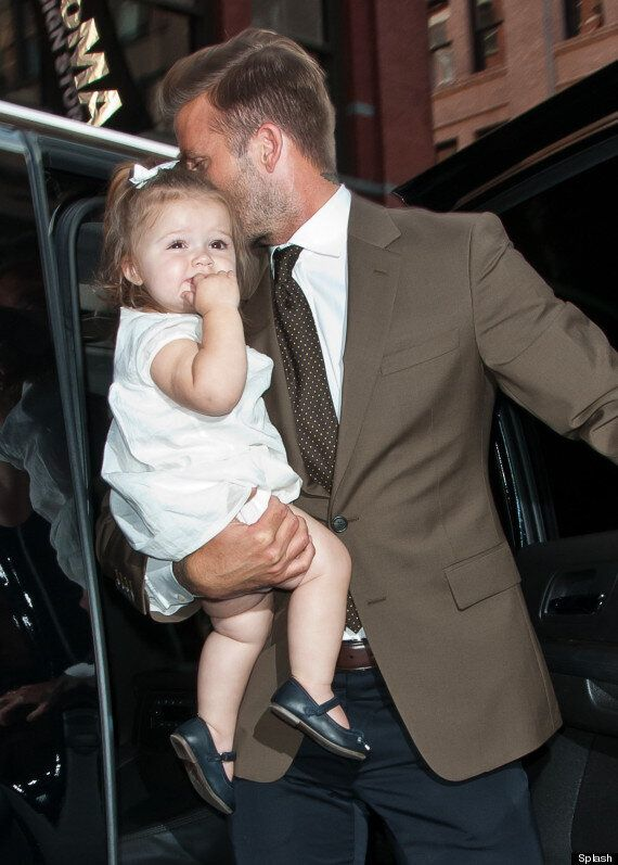 Harper Beckham Tries The Catwalk Out For Size At Victoria's New York Fashion Week Show
