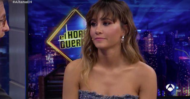 Pablo Motos sonroja a Aitana con una pregunta sobre las pezoneras y su respuesta cautiva a