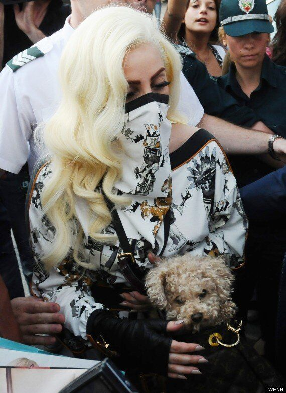 Lady Gaga Covers Up As She Arrives In Bulgaria For Her 'Born This Way Ball'