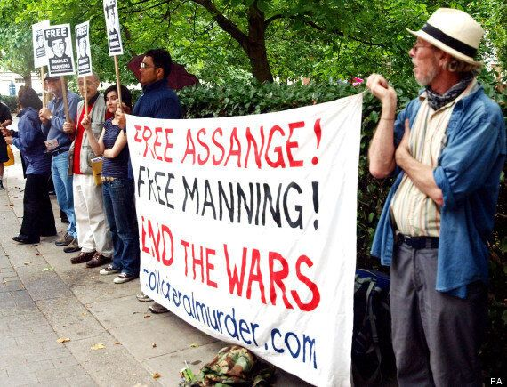 Free Bradley Manning: Campaigners Protest Army Private's Incarceration Outside American Embassy,