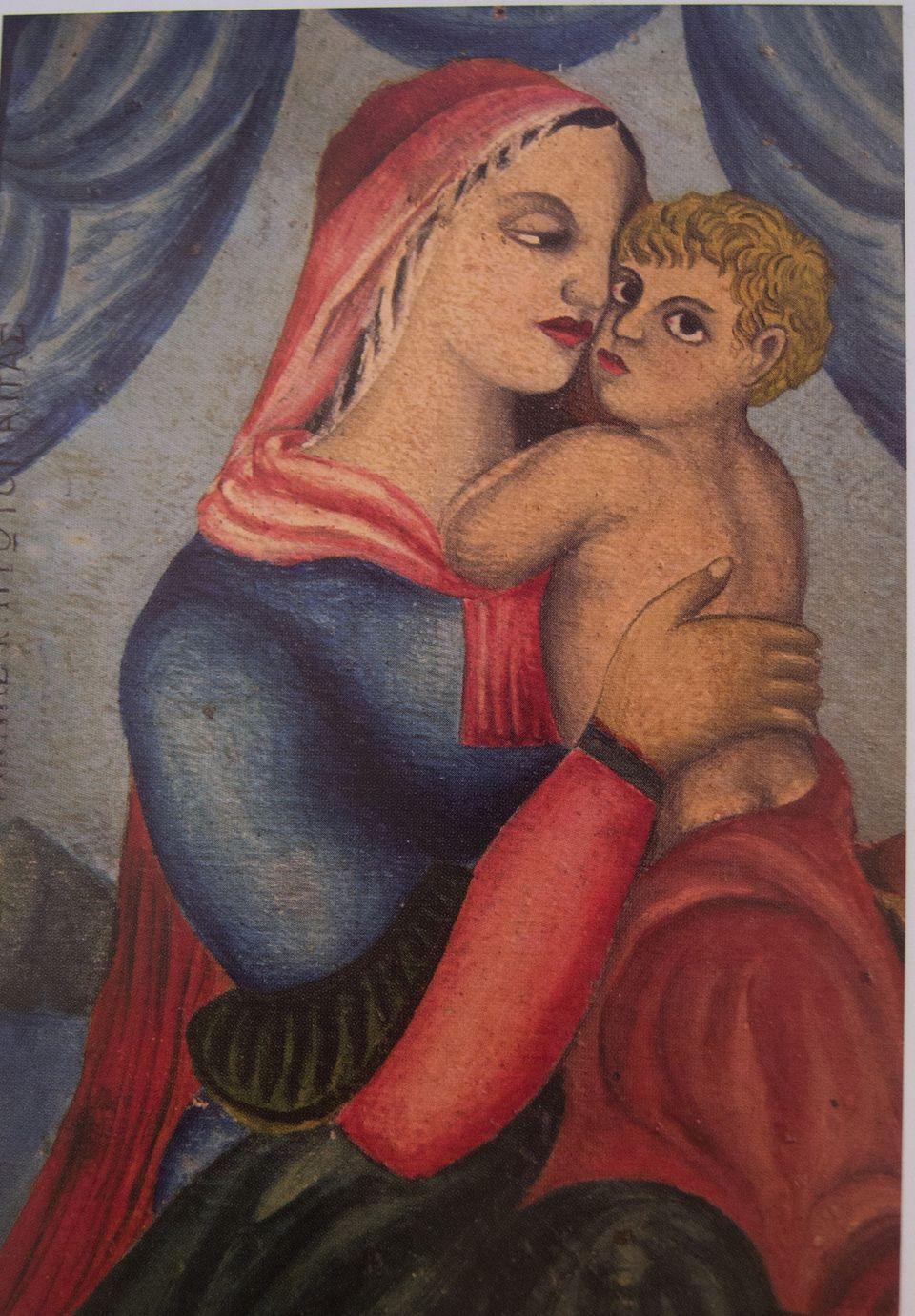 Παναγία και βρέφος, Εμμ. Ν. Παπαμανώλη, ιδ. συλλογή Κωστή Μ.