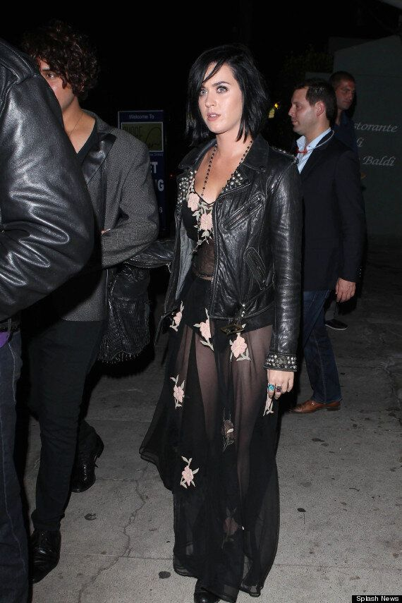 Katy Perry Channels Lauren Goodger As She Dons See-Through Dress On Heartbreak Night