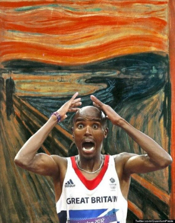 Picture Of The Day: Mo Farah Stars In Edvard Munch's 'The