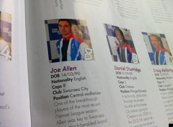 London 2012: Team GB Welshman Joe Allen Listed As 'English' In Second Olympic