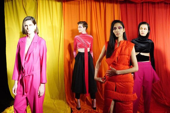 Sadie Williams And Marta Jakubowsi Wield A Sucker Punch Of Colour At London Fashion
