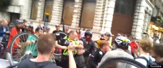 YouTube Video Of Police Clashing With Pro-Cycling Campaigners Critical Mass Attracts Thousands Of