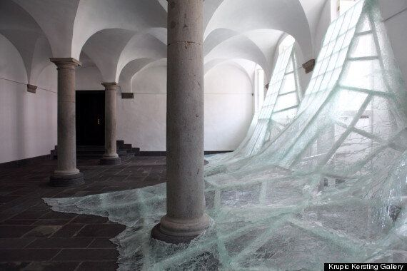 Baptiste Debombourg's Tidal Wave Of Glass Fills German