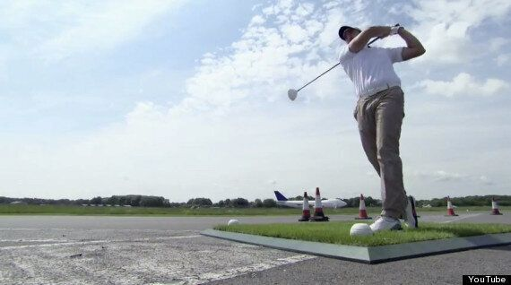 Guinness World Record: David Coulthard Caught Golf Ball At