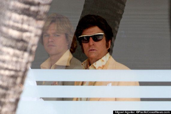 Michael Douglas Pictured On Set Of 'Behind The Candelabra' As Pianist Liberace