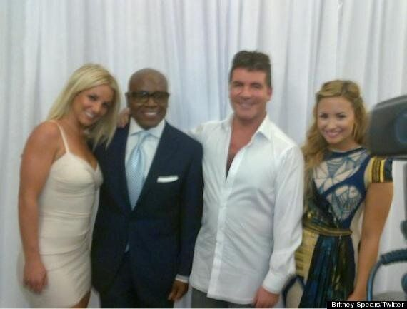 Britney Spears Celebrates Joining 'X Factor USA' With Simon