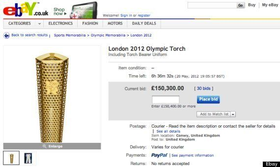 Olympic Torches Go Up For Sale On Ebay Huffpost Uk