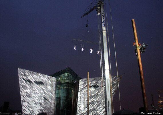 Belfast's Giants Awaken In Spectacular Outdoor Art