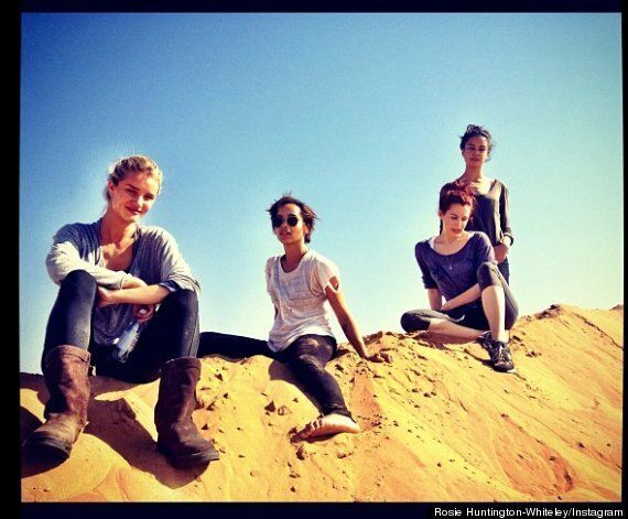 Rosie Huntington-Whiteley Tweets Photos With 'Mad Max 4' Co-Stars Zoe Kravitz, Riley Keough and Adelaide