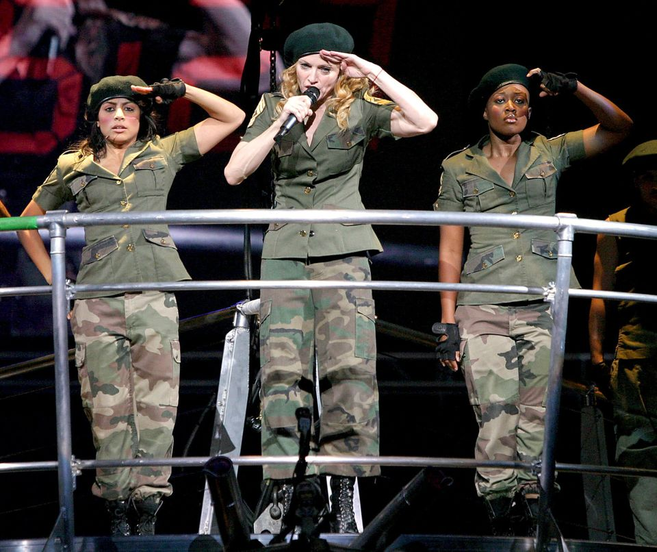 Madonna performing American Life on the Reinvention Tour in
