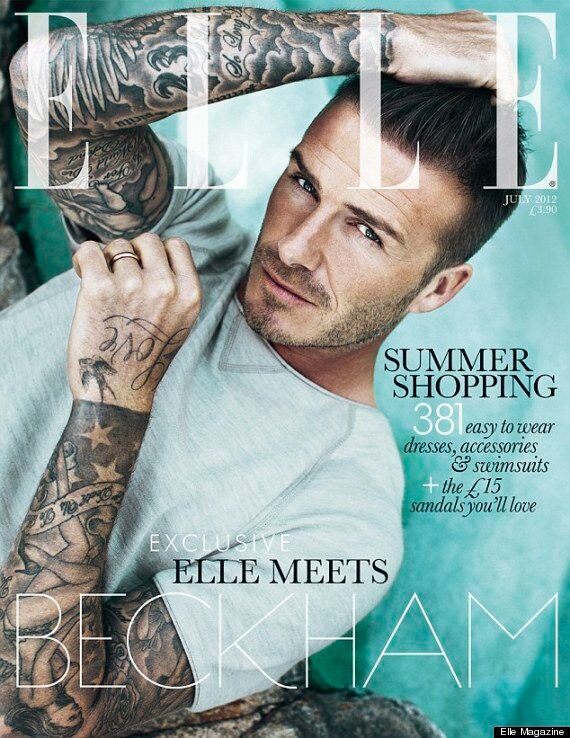 David Beckham Elle Magazine Cover