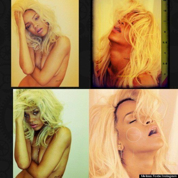 Rihanna Goes Blonde (And Naked) For 'Nude' Perfume Photo