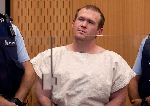 Dans cette photo d'archives du 16 mars 2019, Brenton Tarrant, l'homme accusé d'avoir tiré...