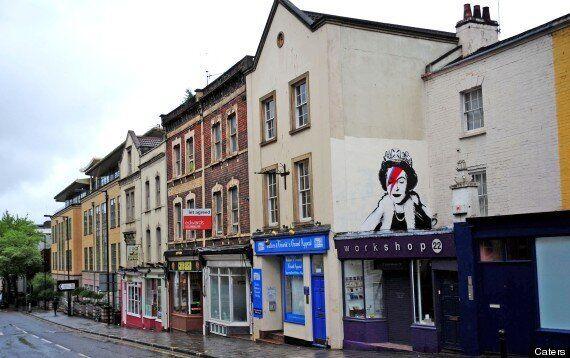 Suspected New Banksy Depicts Queen As David