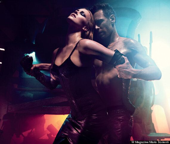 Michael Fassbender And Charlize Theron: Prometheus Stars In S&M Shoot For W Magazine