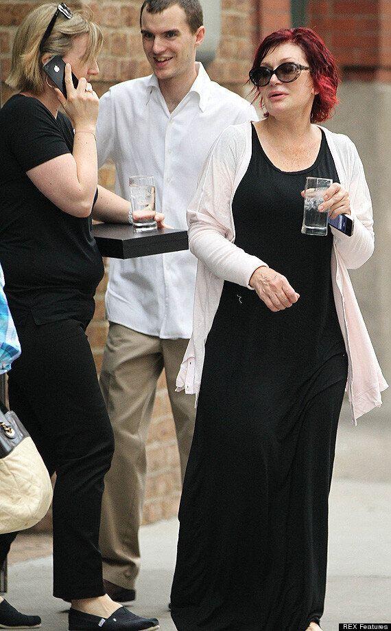 Sharon Osbourne Feels The Heat In New York As Temperatures Soar