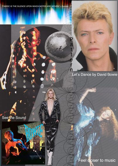 David Bowie's Let's Dance Woven Into Textile Art - Beatwoven's Sound And