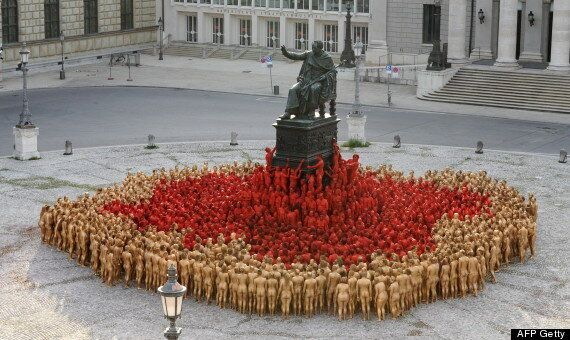 Naked Spencer Tunick Munich Installation Recreates Wagner's Der Ring Des Nibelungen