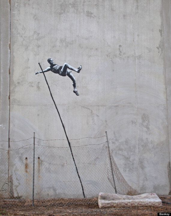 London 2012: Street Artist Banksy's Olympic Graffiti Unveiled