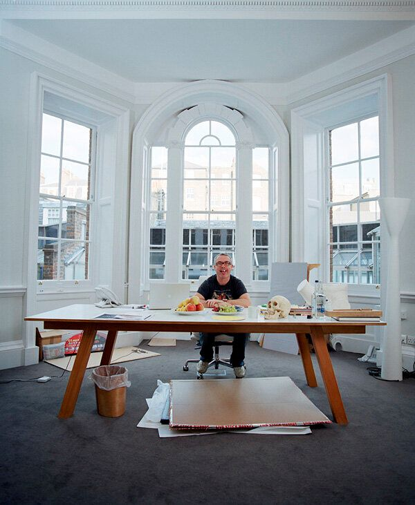 My Portrait of Damien Hirst: A Nipple is More Than a