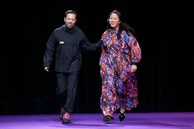 Humberto Leon et Carol Lim, au mois de janvier à Paris, pendant la semaine de la