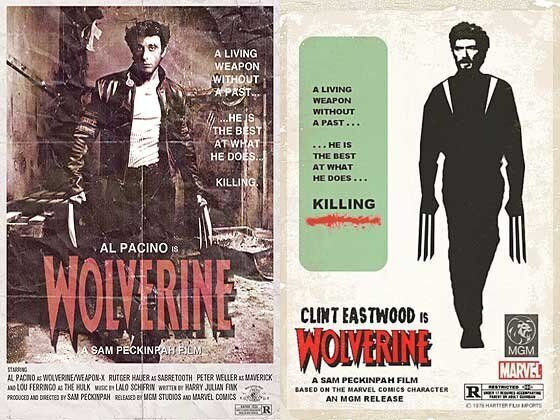 Frank Zappa as the Big Lebowski, Clint Eastwood as Wolverine? Retro Reimaginings of Classic Movie