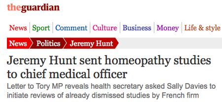 Jeremy Hunt's Seven-Day Homeopathic NHS: Just The