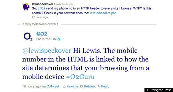 O2 Mobile Phone Privacy Leak: Your Mobile Number Sent To