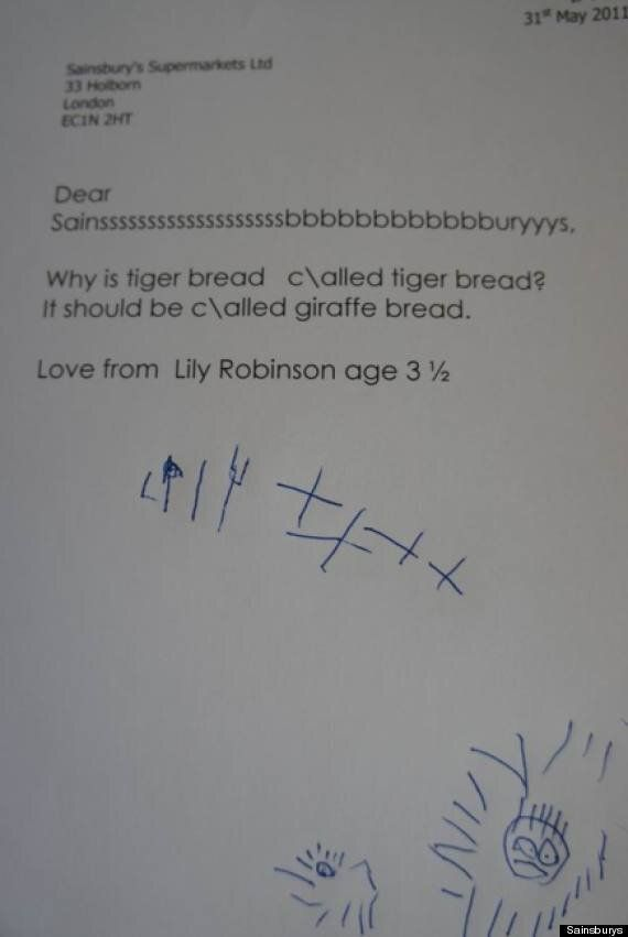 Sainsbury's Letter 'Tiger Bread Giraffe Bread' Makes Lily Robinson And Chris King Internet