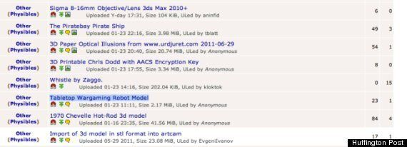 Pirate Bay Hosts Physical Objects - And Is Accused Of Infringing Games Workshop