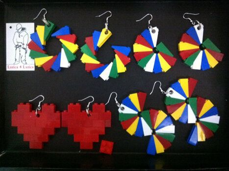 LEGO Dangle Earrings: Spring Look