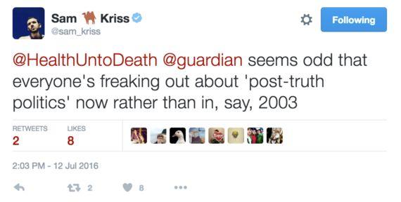 Post-Truth Politics And