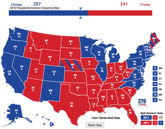 A Week To Go: Final Predictions - Clinton Is On Course for a Narrow