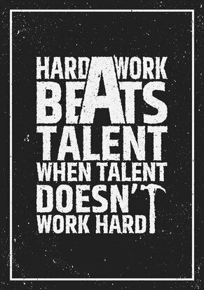 Forget Talent, Focus on Hard