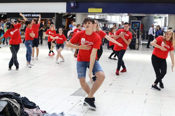 Energy Fuelled Youngsters Complete International Youth Day Flash Mob In Britain's Busiest