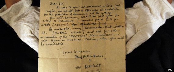 Paul McCartney Letter Offers Unknown Drummer A Tryout For The Beatles