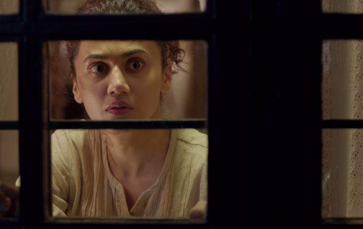 Taapsee Pannu in a still from the Tamil film 'Game Over'