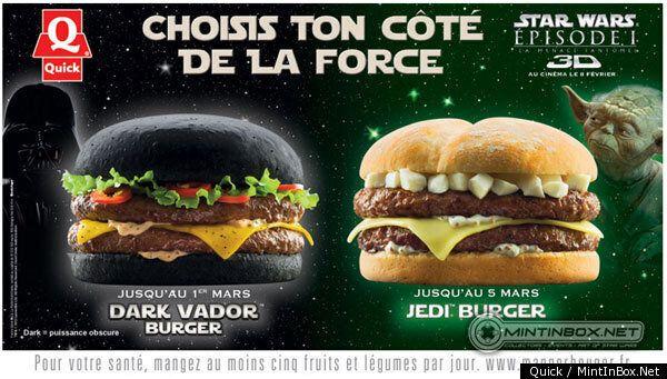 Darth Vader Burger To Join Darth Maul And Yoda At Belgian Fast Food Chain Quick
